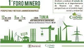 La situación de la minería de Boyacá será objeto de análisis en foro de este lunes