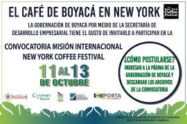 Gobernación convoca a empresarios para participar en New York Coffee Festival