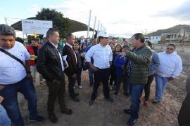 Gobernador visitó obras de mejoramiento vial en Nobsa-Chámeza