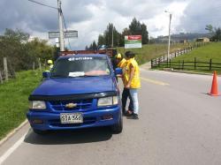 Operativos de seguridad vial adelanta ITBOY en municipios boyacenses