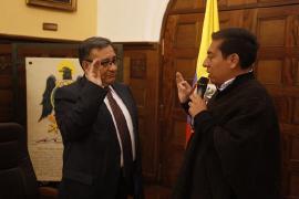 Gobernador de Boyacá posesionó al nuevo gerente de ESE Hospital Regional Valle de Tenza