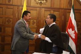 Gobernador de Boyacá posesionó a nuevo Subdirector Financiero y Fiscal