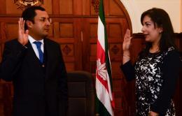 Gobernador Juan Carlos Granados Becerra posesionó a Secretaria y Asesor de Despacho