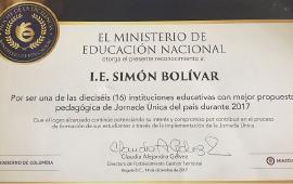 IE de Soracá reconocida por presentar una de las 16 mejores propuestas de jornada única del país