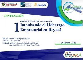 Hoy se realiza el foro 'Impulsando el Liderazgo Empresarial en Boyacá'