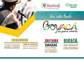 No se pierda las actividades del fin de semana en Boyacá