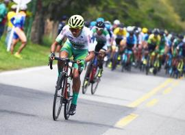 Rafael Pineda ingresó al Top 10 de la general en la Vuelta a Colombia