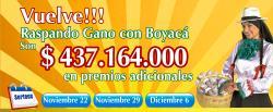 Lotería adelanta la navidad a sus clientes con el promocional Raspando Gano con Boyacá