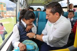'Futuro sobre ruedas' también educa a los niños de Boyacá en cultura vial