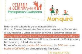 Boyacá tendrá Consejo Departamental de Participación Ciudadana