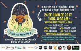 Este sábado en Tunja participe en 'Vida Sobre Ruedas'