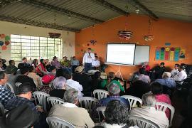 Gobernación de Boyacá y alcaldía municipal, socializaron obras viales en Sutamarchàn