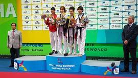 Andrea Ramírez se colgó la de bronce en Mundial de Taekwondo en Corea