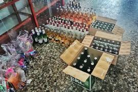 Productos ilegales decomisados en operativo