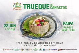 En Paipa se cambiarán residuos plásticos por canastos de fibras vegetales