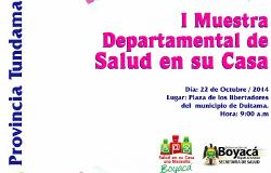 Salud organiza Muestra Departamental en Duitama