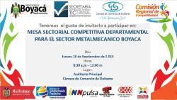 Se desarrolló mesa sectorial competitiva para el sector metalmecánico del Departamento