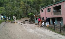 Fuertes lluvias causaron graves daños en la vía Tibaná – Garagoa