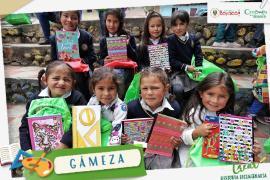 La niñez de Gámeza recibió 'Útiles para Crear Historia Bicentenaria'