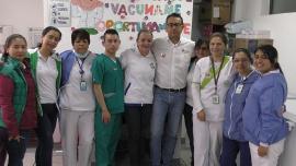 Más de mil niños vacunados en Jornada Nacional de Vacunación y Salud Oral en Boyacá