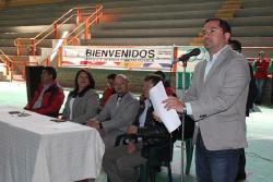 Inauguración oficial de la final departamental de los Juegos Supérate Intercolegiados