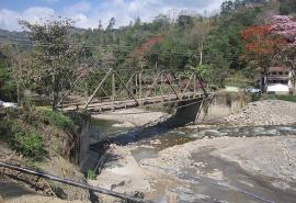 Gobernación de Boyacá trabaja en el reforzamiento del Puente Ospina en el Valle de Tenza