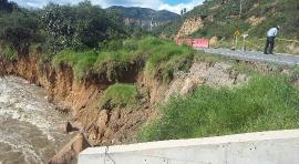 Intenso invierno genera problemas viales en la Provincia del Sugamuxi