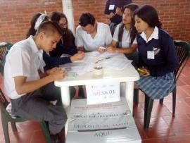 En Soatá iniciaron elecciones de Voto Estudiantil - Elecciones Colombia 2018