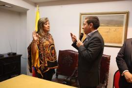 Gobernador de Boyacá posesionó asesora de Relaciones nacionales  e Internacionales en Bogotá