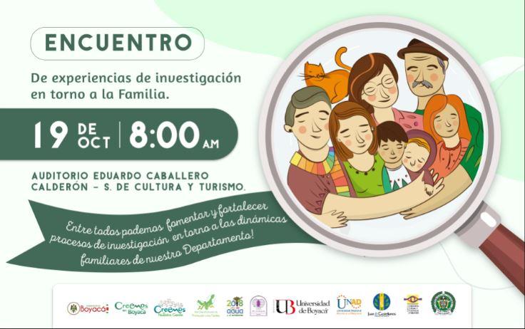 Este 19 de octubre se realiza Encuentro sobre experiencias de investigación en torno a las familias