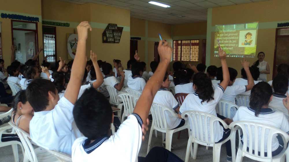 Jóvenes de Cubará participaron de la actividad emprendida por la Gobernación de Boyacá.