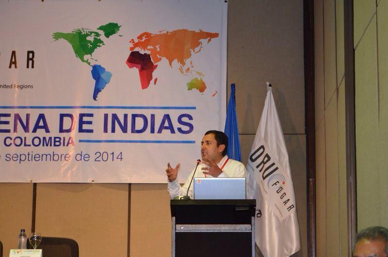 Juan Carlos Granados, gobernador de Boyacá, en Cumbre Continental de Gobernadores. Foto: Federación Nacional de Departamentos