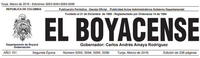 El Boyacense Edición 5093-5094-5095-5096