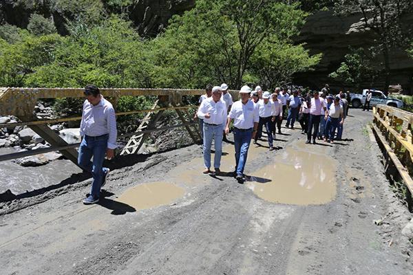 El puente sobre el río Chiscano no fue intervenido