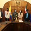 Diego Camargo recibió condecoración, gracias a sus títulos, por ser orgullo de los boyacenses