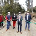 Gobernador inauguró placa huellas que benefician a residentes de zonas rurales de Motavita