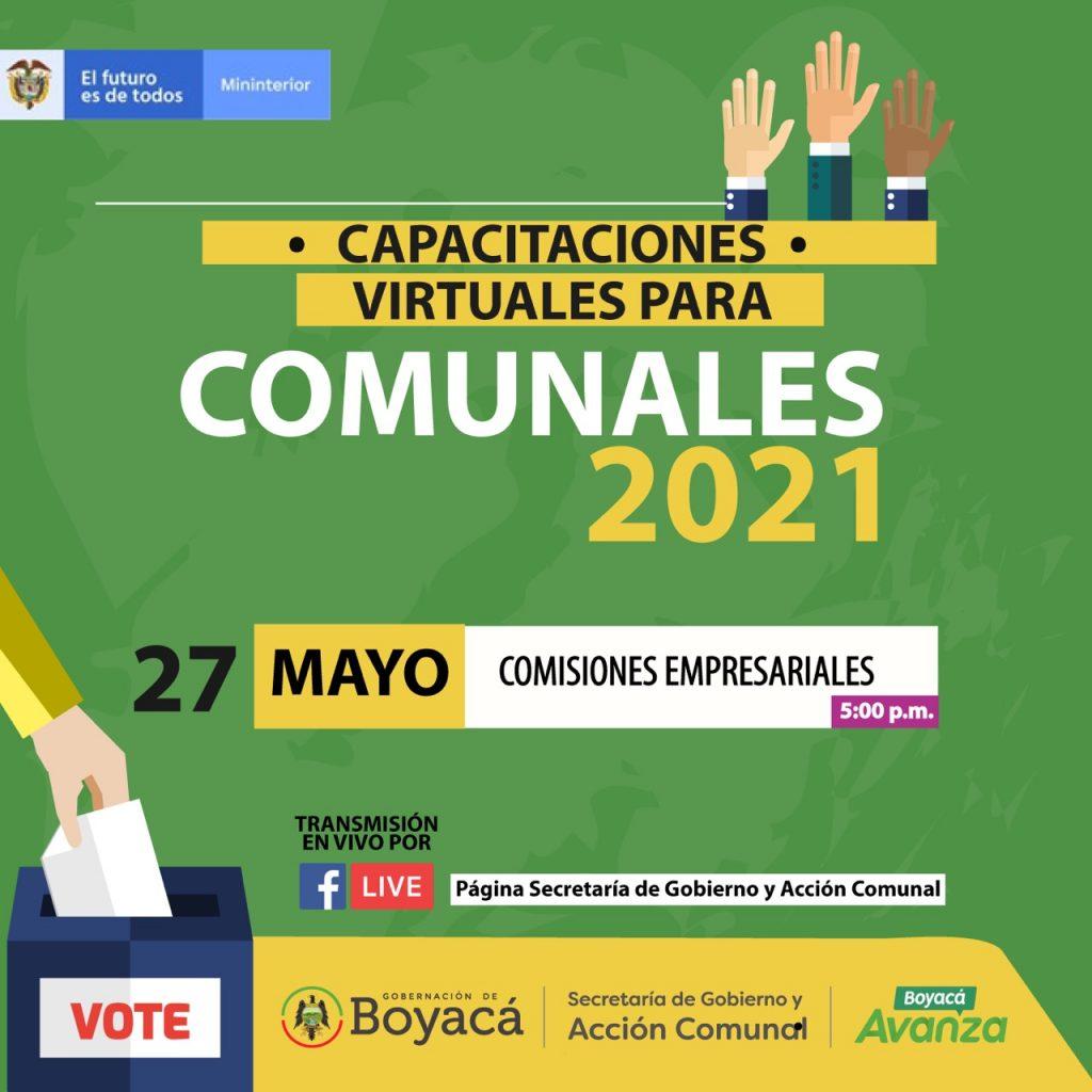 Sigue el ciclo de capacitaciones virtuales para comunales por la Secretaría de Gobierno de Boyacá y el MinInterior