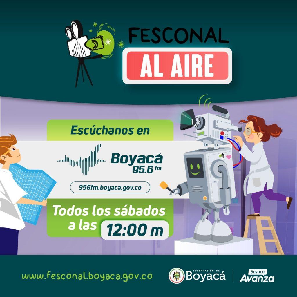 """El nuevo espacio radial FESCONAL AL AIRE inicia este sábado 15 de mayo al medio día la emisora de la Gobernación de Boyacá 95.6 FM en """"Sintonía con Nuestra Tierra"""""""