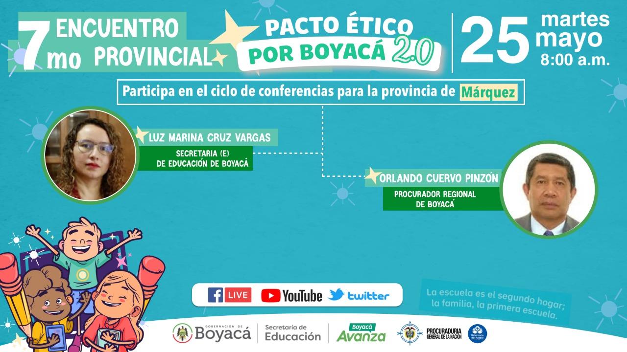 El Séptimo Encuentro Provincial del Pacto Ético se desarrollará en Márquez