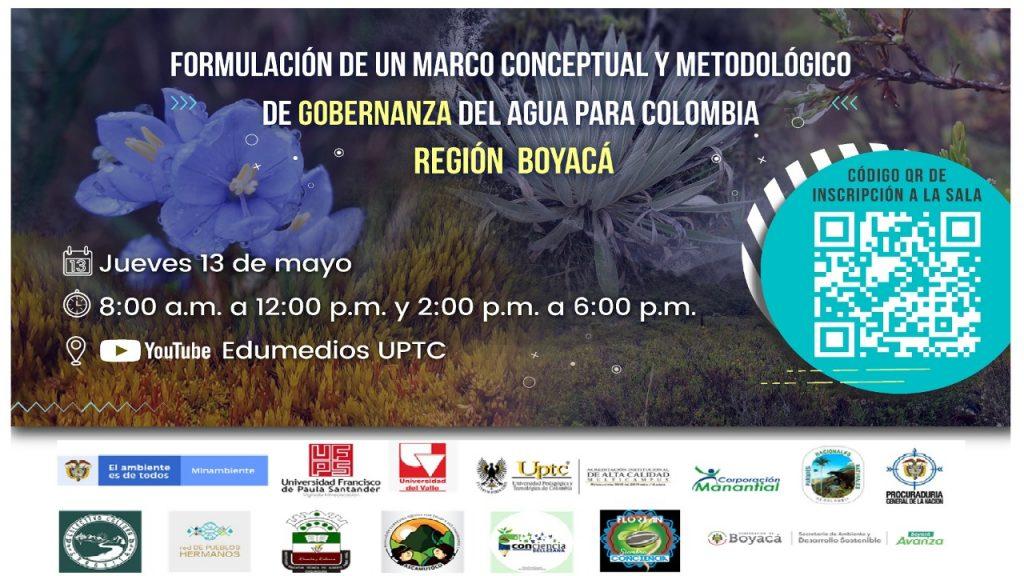 """Secretaría de Ambiente y Desarrollo Sostenible participará en la """"Formulación de un Marco Conceptual y Metodológico de Gobernanza del Agua para Colombia - Región Boyacá"""""""