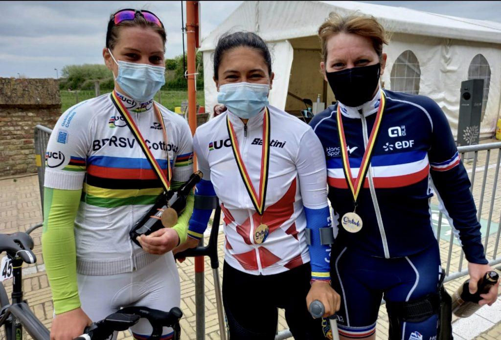 Carolina Munévar, bicampeona en la Copa Mundo de Paracycling. La 'reina del Paracycling' logró dos oros en Bélgica.