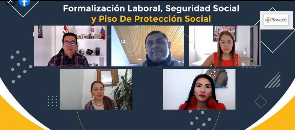 Exitosa jornada virtual de Formalización Laboral, Seguridad Social y Piso de Protección Social