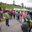 Gobernador de Boyacá se reunió con manifestantes en el peaje de Tuta