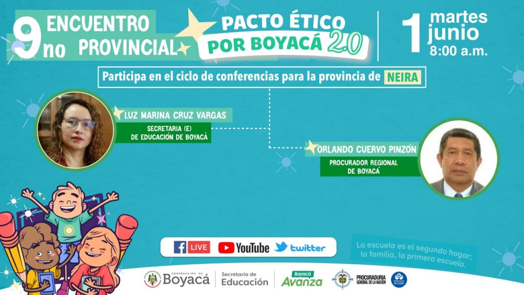 El noveno Pacto Ético por Boyacá llega a la Provincia de Neira