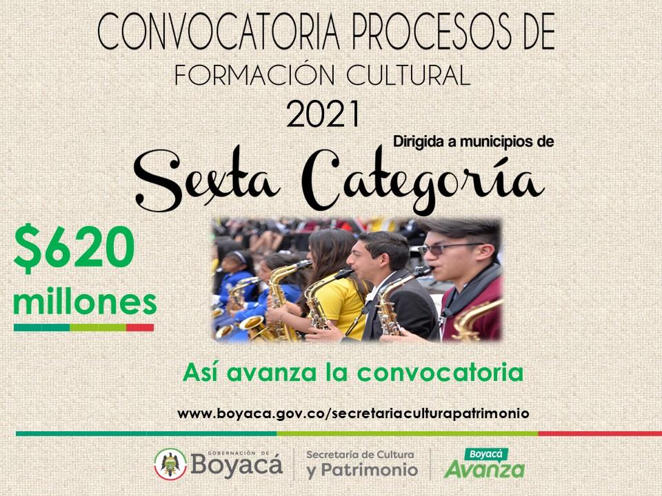 91 proyectos inscribieron en el proceso de la Convocatoria de Formación Cultural de municipios de sexta categoría
