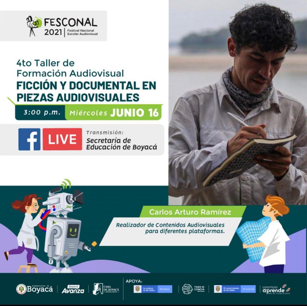 La ficción y el documental, géneros para participar en el FESCONAL, serán las temáticas del IV taller de formación audiovisual 2021