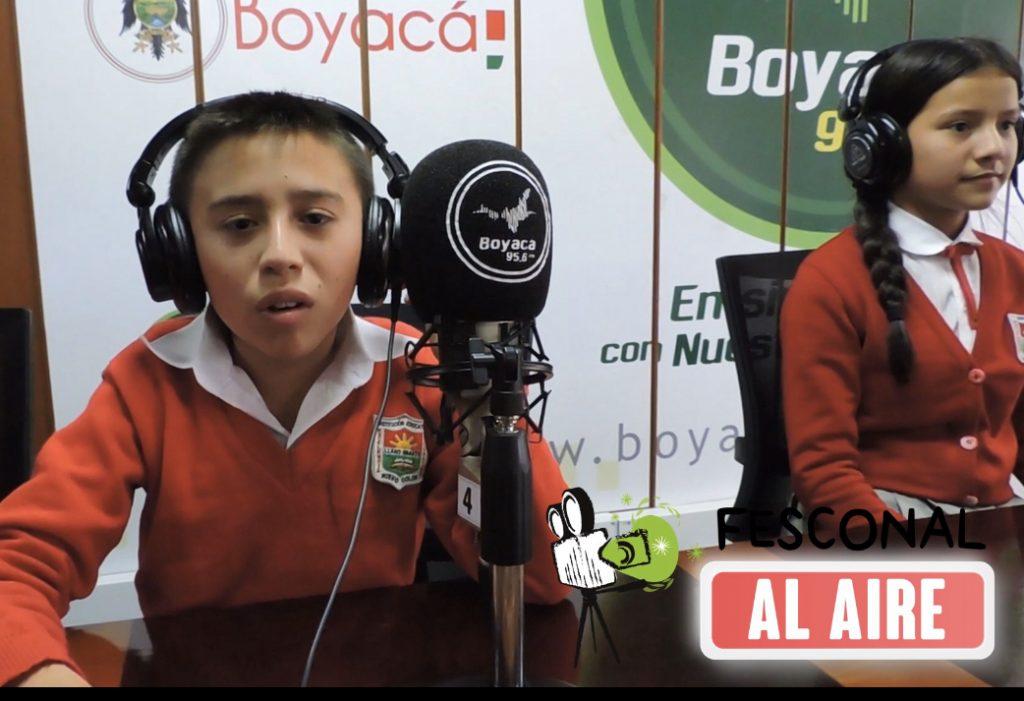 Los clubes escolares audiovisuales de los municipios de Boyacá, Nuevo Colón, Turmequé, Ramiriquí, Rondón y Úmbita participarán en FESCONAL Al Aire