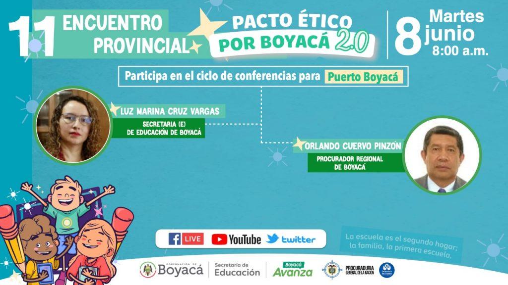 Comunidad Educativa de Puerto Boyacá está lista para recibir el Pacto Ético por Boyacá 2.0