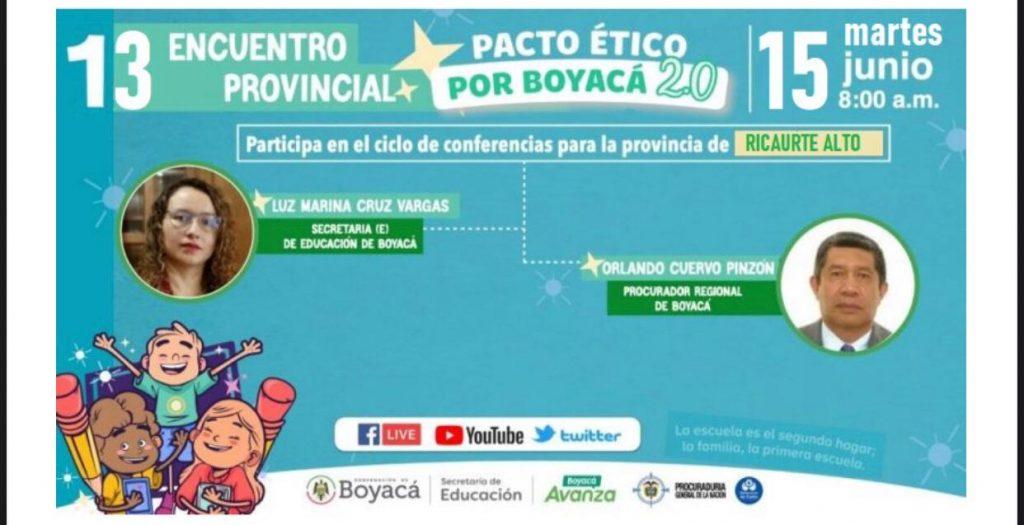 A Ricaurte Alto llega el Pacto Ético este 15 de junio