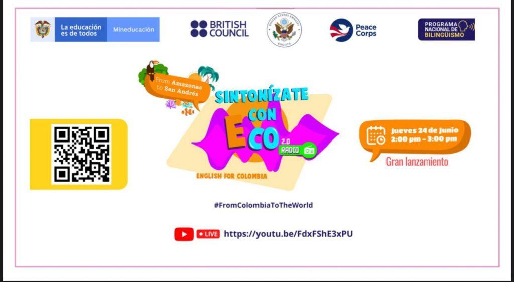 Emisoras del departamento retransmitirán el lanzamiento del programa ECO 2.0 Radio del Ministerio de Educación